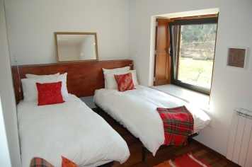 Set-up as two twin beds